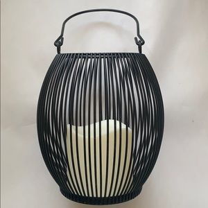 Other - Rustic metal black candle decor